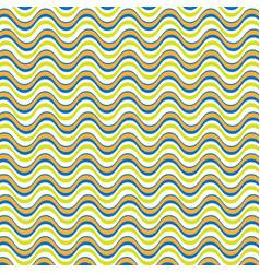 vintage color wavy lines background vector image