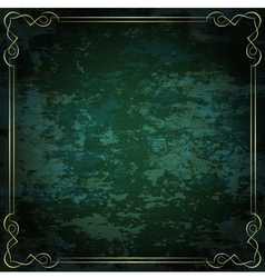 Vintage frame on a green background vector