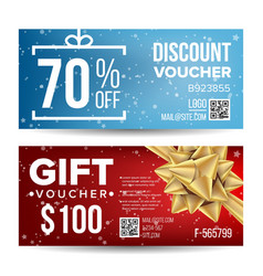 voucher template for banner discount card vector image