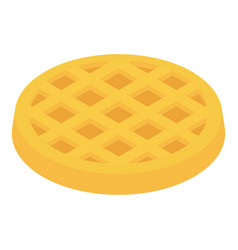 wafer icon isometric 3d style vector image
