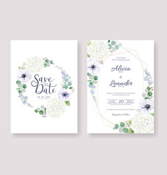 wedding invitation save date card template vector image