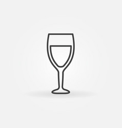 wine glass line icon vector image