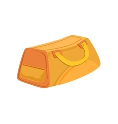 Yellow And Beige Sports Handbag Item From Baggage vector