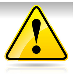 Yellow exclamation mark sign - caution warning vector