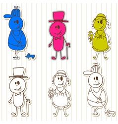 Cute little monsters Halloween funny kids vector image