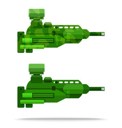 External flat airship big powerful weapon vector