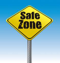 road sign safe zone illustration vector image vector image