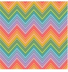 seamless multicolors zig zag pattern vector image vector image
