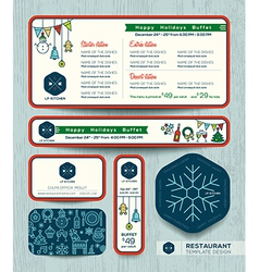 Christmas party restaurant menu set design templat vector image vector image