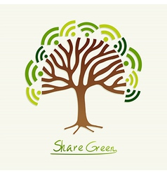 Green concept tree vector image