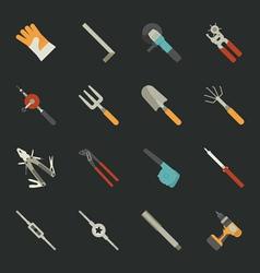 Hand tools icon set flat design vector image
