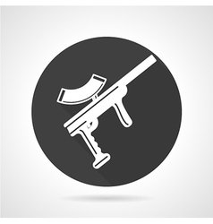 Paintball rifle black round icon vector image vector image