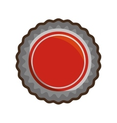 Red bottle cap white background vector