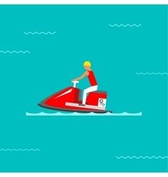 Water bike vector image vector image