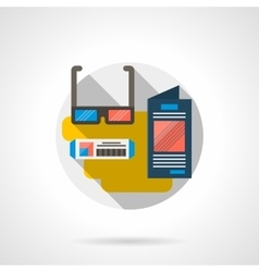 3D movie color detailed icon vector image