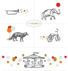 AT THE CIRCUS vector image vector image