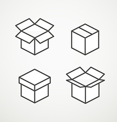 Different boxes collection vector image vector image