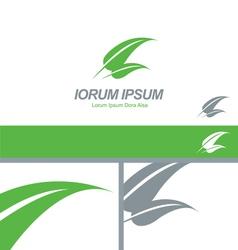 Green Leaf Organic Natural Logo Concept vector image