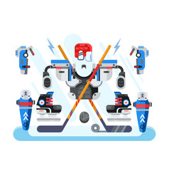 hockey equipment set vector image