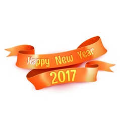 New Year Greetings Decoration Ribbon Element vector image vector image