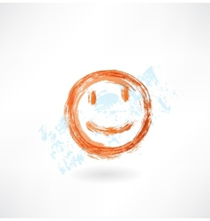 Smile grunge icon vector image