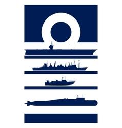 Abstract Insignia Navy admiral vector image vector image