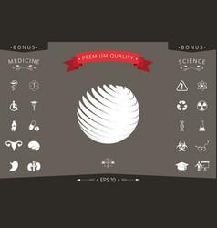 earth logo symbol vector image