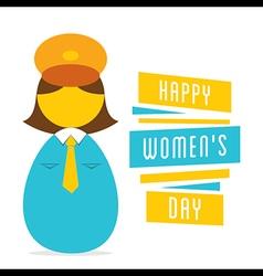 happy womens day work in women police design vector image vector image