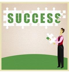 Puzzle Success vector image vector image