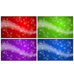 Abstract background set vector