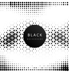 Abstract geometric hipster pattern black backgroun vector