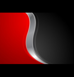 Abstract red black background with metallic wave vector