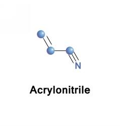 Acrylonitrile organic toxic vector image