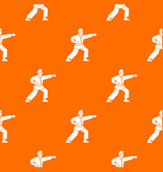 aikido fighter pattern seamless vector image