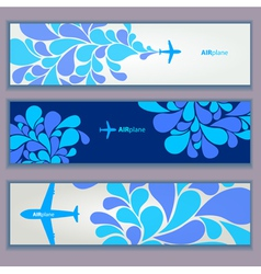 Air plane design banners vector image