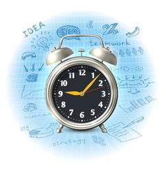 Alarm clock business strategy vector