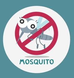 Anti mosquito stop mosquito sign vector