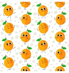 Apricots seamless pattern vector image