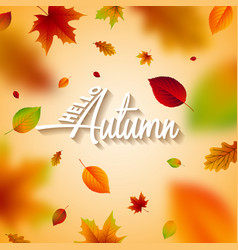 autumn with falling leaves vector image