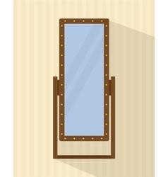 Big full-length mirror vector