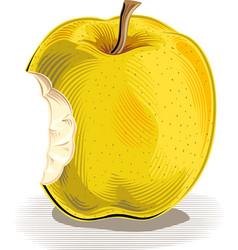 Bitten apple on a white background vector
