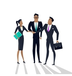 Business Cooperation Concept in Flat Style vector
