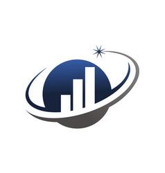 business optimize logo design template vector image