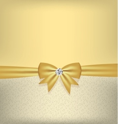 Card with bow and ribbon vector
