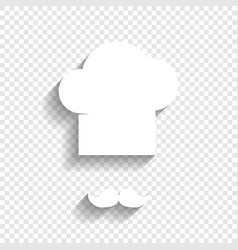 Chef hat and moustache sign white icon vector