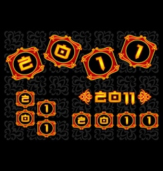 chinese 2011 nnew year vector image