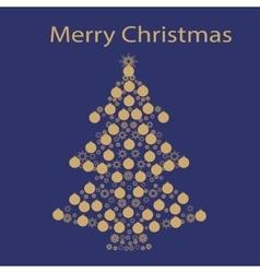 Christmas tree ball card background vector