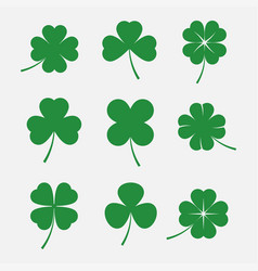 Clover leaves set vector