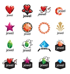 Collection of modern logos jewelry vector