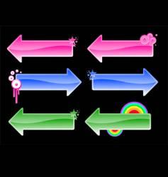 Color arrows vector